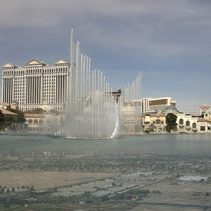 Image of Bellagio Watershow Light Painting