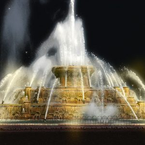 Image of Buckingham Fountain Light Painting