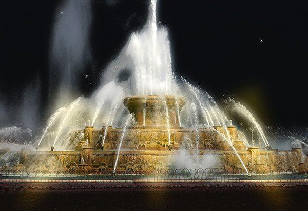 Image of Buckingham Fountain Light Painting