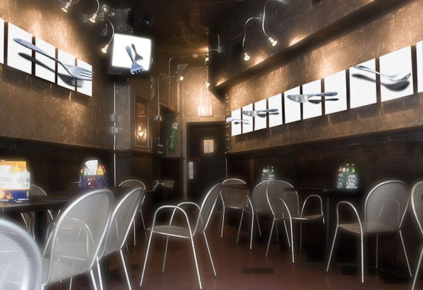 Image of Cafe' 3D Light Painting