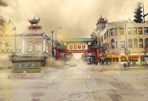 Image of ChinatownLight Painting