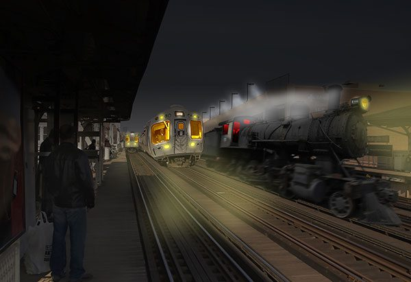 Image of Comin' Through Light Painting