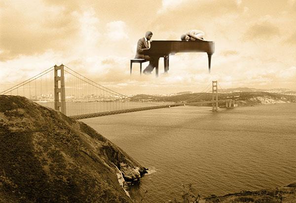 Image of Harmonizing with Golden Gate Light Painting