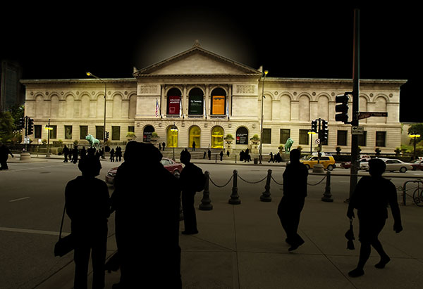 Image of The Art Institute of Chicago Light Painting