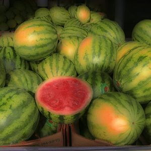 Image of Watermelons for Sale Light Painting